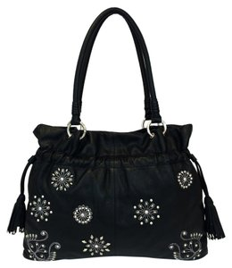 Isabella Fiore As If Leather Tote in Black