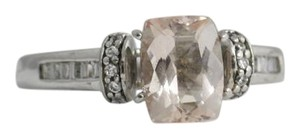 Other Morganite Diamond Ring, 10k White Gold, Pink Stone Ring