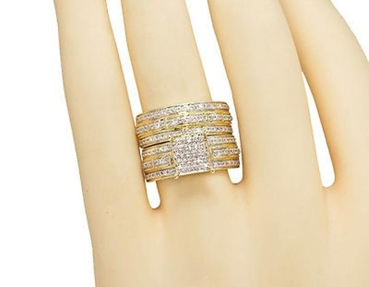 Other 10K Yellow Gold Pave Trio Set
