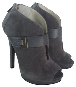 Michael Kors Peep Toe Heather Grey Boots