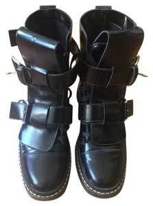 Marni Chelsea Boot Buckle Lace Up Black Boots