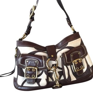 Coach Satchel in Brown And Cream
