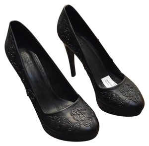 Diesel Leather Elliott Consignment Chicago Consignment Black Pumps