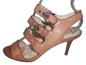 5500b1cb565 Coach Rustic Leather Strappy Nude Sandals