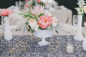 Dark Grey Silver Sequin Table Runners (7)