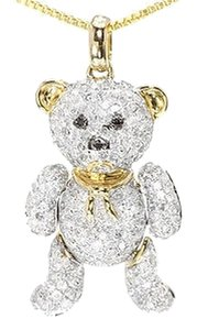 Jewelry Unlimited 10k,Yellow,Gold,Ladies,Round,Diamond,Teddy,Bear,Love,Fashion,Pendant,Charm,2.0ct