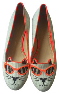 Charlotte Olympia Kitty Beige Flats