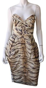 ZIMMERMANN Tiger Print Animal Print Cocktail Dress