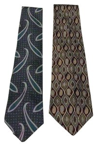Perry Ellis Two Silk Ties - Perry Ellis Portfolio Brand