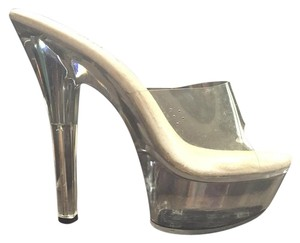 Ellie Shoes Halloween Hustler Dancer Clear Platforms