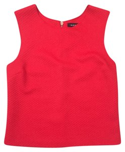 Trouvé Texture Waffle Crop Sleeveless Top Red