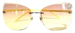 Gucci New 4217 Butterfly Yellow Sunglasses