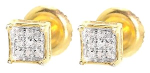 Jewelry Unlimited Yellow,Gold,Finish,Mens,Ladies,5mm,Round,Diamond,Prong,Mini,Stud,Earrings,120ct