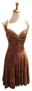 Norma Kamali short dress Leopard print Wrap on Tradesy