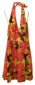 Trina Turk short dress Yellow Halter Summer on Tradesy