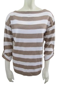 J.Crew Sparkle Striped Cotton Sweater