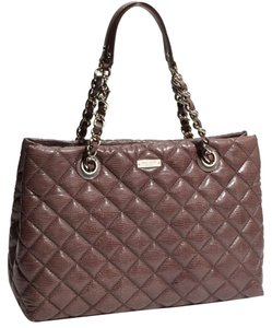 Kate Spade Quilted Tote in French Grey