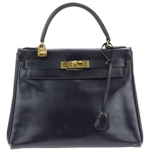 Hermès Hermes Kelly Satchel in Navy Blue