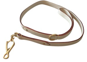 Louis Vuitton Louis Vuitton Suhali Goat Leather Dog Leash in White