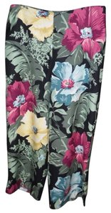 Tommy Bahama Hawaiian Vacation Island Capris black