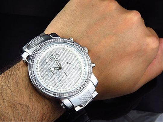 Other Mens Jojinojoe Rodeojojo Stainless Steel 50mm Real 25 Diamond Watch Mj-1193 Image 2