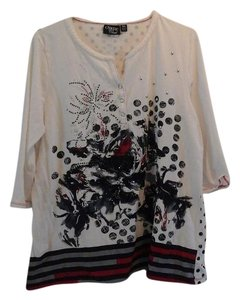 Onque Casuals 3/4 Length Sleeve Onque Xl Shirt Printed Shirt Tunic