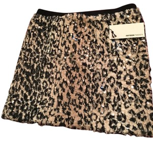 Fifteen Twenty Mini Skirt Leopard and sequins