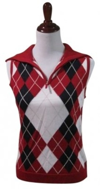 Liz Claiborne Active Preppy Top Plaid