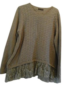 John Johnson Lace Bottem Lace Medium Shirt Sweater