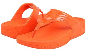 FitFlop Walkstar Orange Thong Sandals