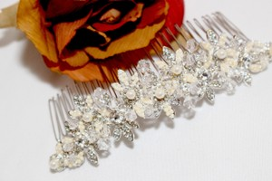 Bella Tiara Special - Beautiful Silver Ivory Crystal Hair Comb