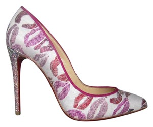 Christian Louboutin Lips Strassed White pink Pumps