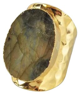 Labradorite Natural Stone Statement Ring