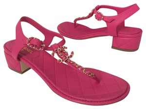 Chanel Fuchsia Sandals