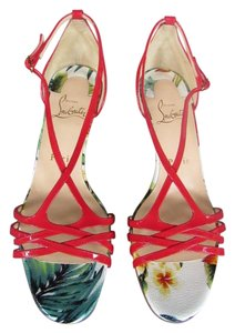 Christian Louboutin Olydia Strappy Sandal Hawaii Red Sandals