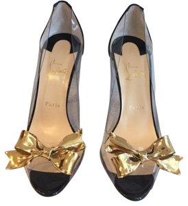 Christian Louboutin Justinodo Black, clear, gold Pumps