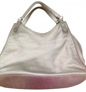Cole Haan Purse Leather Strawberry Fields Tote in Silver