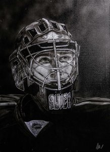 Armando Villarreal Jonathan Quick - Los Angeles Kings
