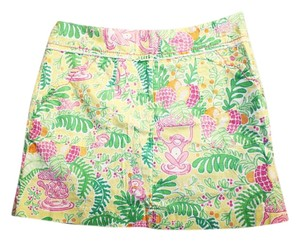 Lilly Pulitzer Floral Skort pink / green / yellow