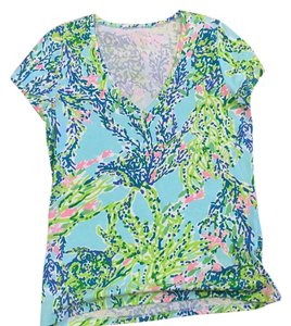 Lilly Pulitzer T Shirt Sky Blue Heaven