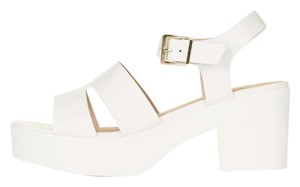 Topshop European 90's Summer Retro White Wedges
