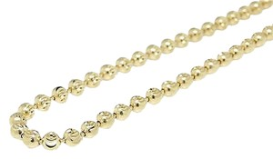 Jewelry Unlimited Brand,10k,Yellow,Gold,Diamond,Cut,Beaded,Moon,Cut,Chain,Necklace,3mm,28-40