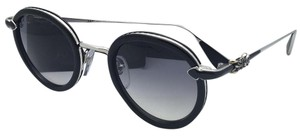 Chrome Hearts CHROME HEARTS Sunglasses BO'JMIR I BK/SS Black & Silver w/ Grey Fade