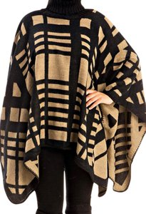 Turtle Neck Poncho Cape