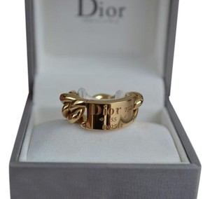 Dior On Sale Christian Dior 18K Chain Link Gourmette Ring