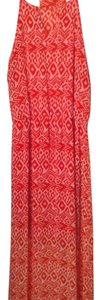 Coral red and white Maxi Dress by Gianni Bini