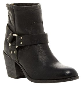 Frye Bootie Western Leather black stone antiqued Boots
