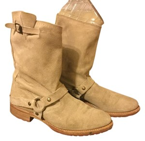 Vintage Shoe Company Leather Suede Stone Boots