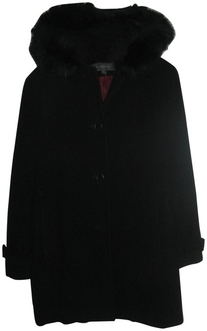 Preload https://item1.tradesy.com/images/liz-claiborne-black-with-fur-lined-hood-pea-coat-size-4-s-18805-0-1.jpg?width=400&height=650