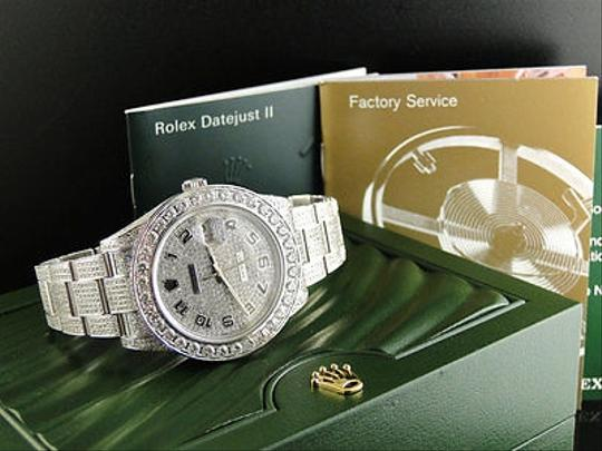 Rolex Custom Made Mens Rolex Date Just Ii Flooded With Genuine Diamonds Mm